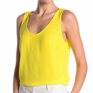 J.Crew Draped Tank Top, Lemon Wedge Yellow Medium